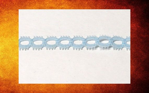 Light Blue Chain Lace in 11 foot piece for sewing, costumes, and crafts. #TRIM-008