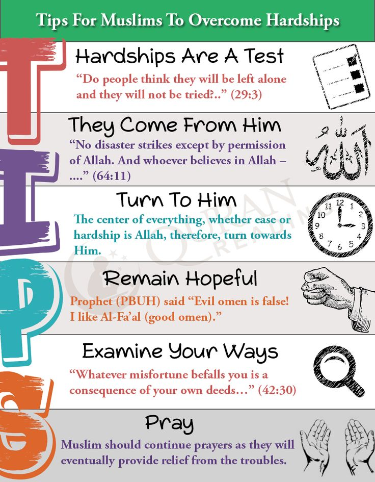 Tips For Muslims When Going Through Hardships #muslims