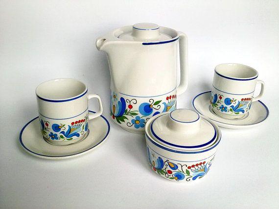 20% OFF Vintage Tea Coffee Set Lubiana by EasternEuropeVintage