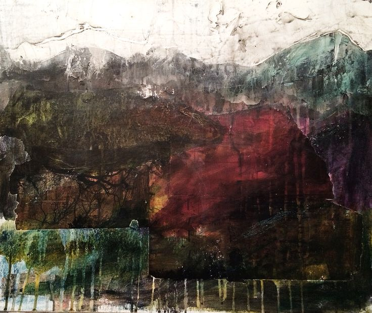 'Dark Shadows' - Acrylic & collage on board... This work will be available at Ffin Y Parc Gallery in 2015 www.welshart.net
