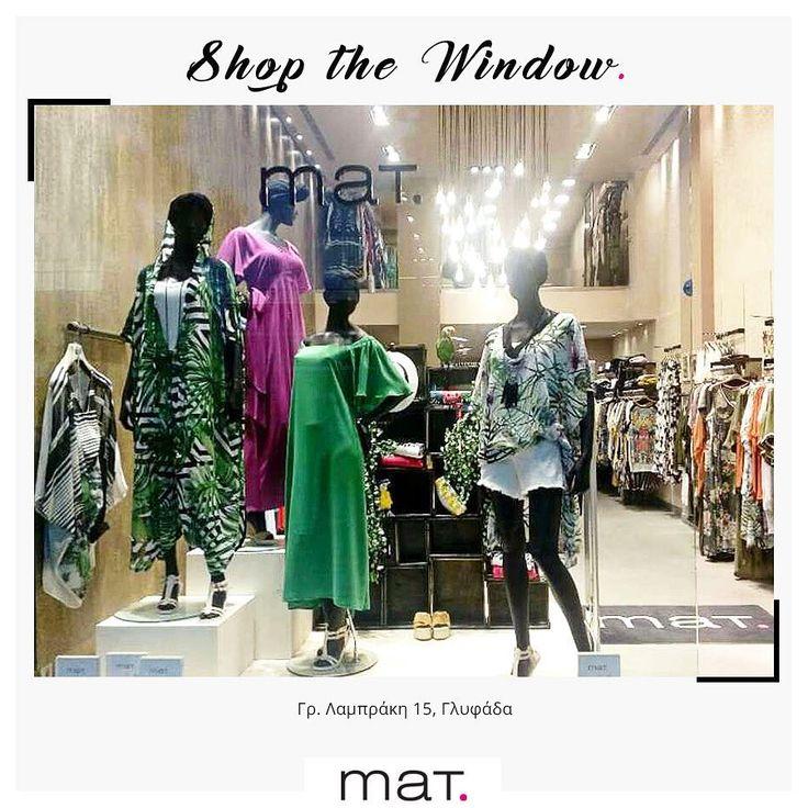 Βόλτα στο κατάστημα της Γλυφάδας και δεν ξέρουμε τι να πρωτοδιαλέξουμε από τα εντυπωσιακά κομμάτια της βιτρίνας... Έντονα χρώματα & tropical μοτίβα που ανεβάζουν στα ύψη την καλοκαιρινή μας διάθεση! Aνακάλυψε τα και στο ηλεκτρονικό μας κατάστημα! #matfashion #mat_Glyfada #realsize #shopping #tropical #ss17 #collection #glyfada #athensriviera #instafashion