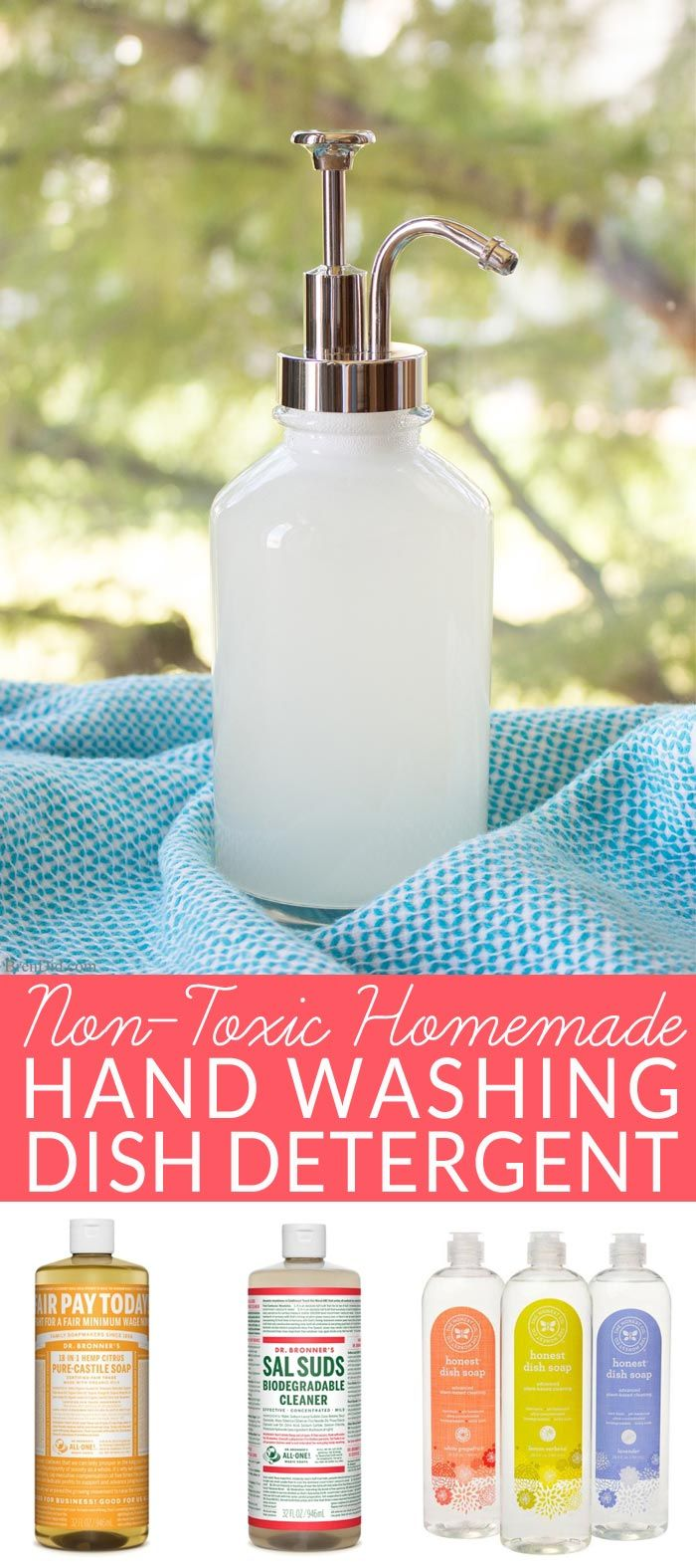Two easy recipes for homemade dish detergent for hand washing - clean 16 sinks…
