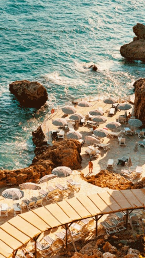 Cozy Beach in Positano / Amalfi Coast Italy #WonderfulExpo2015