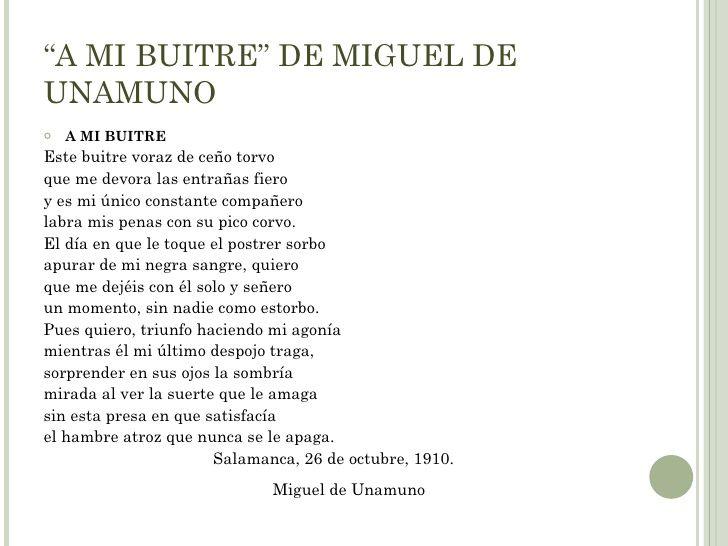 Poema Unamuno A Ni Buitre Poemas Buitre Poesia