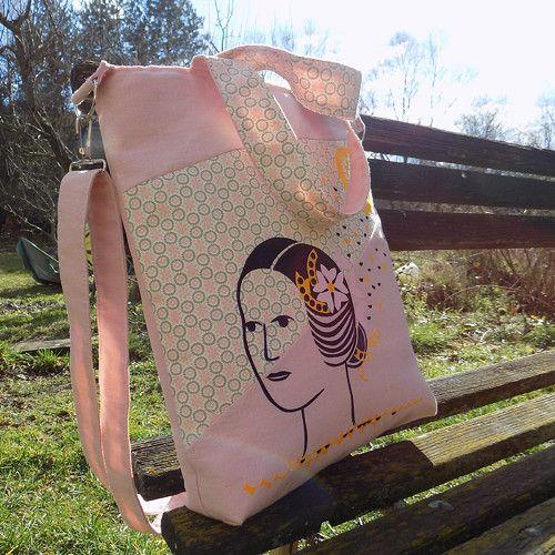 """Lněná taška \""""Kytky potřebují slunce\"""""""