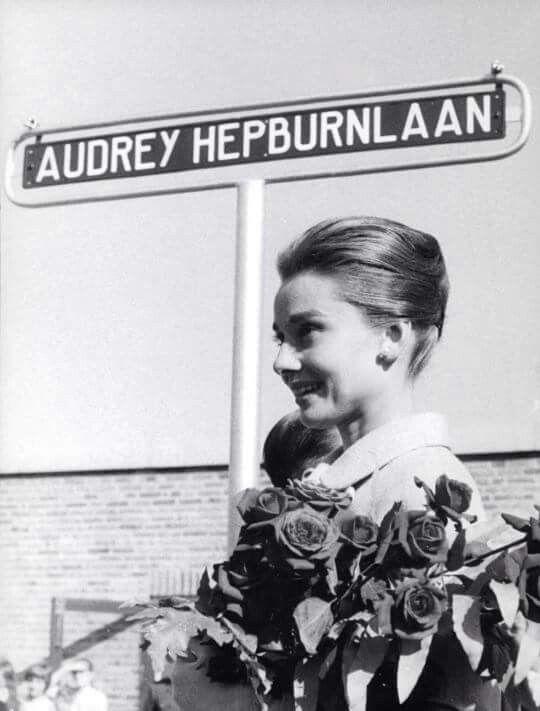 Doorn, Holland, 1959 - this street was named in Audrey Hepburn's honor