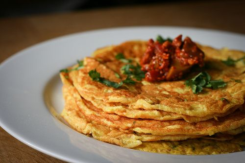 Indian Chickpea Pancakes... looks flavorful!