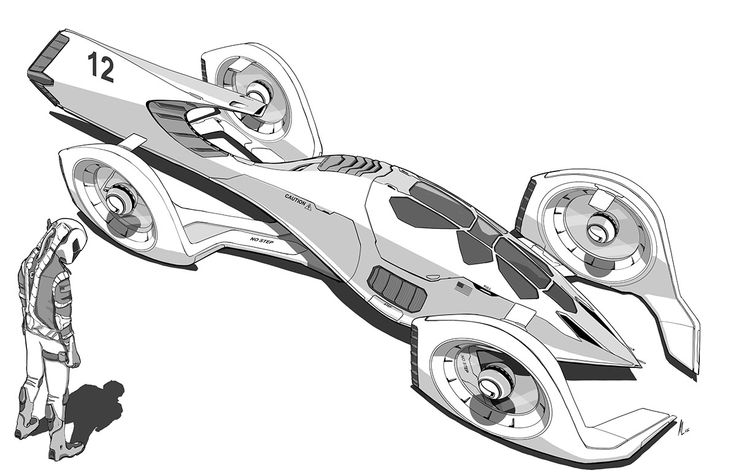 Ferrari 2100, Electric Rocket Hybrid on Behance ...