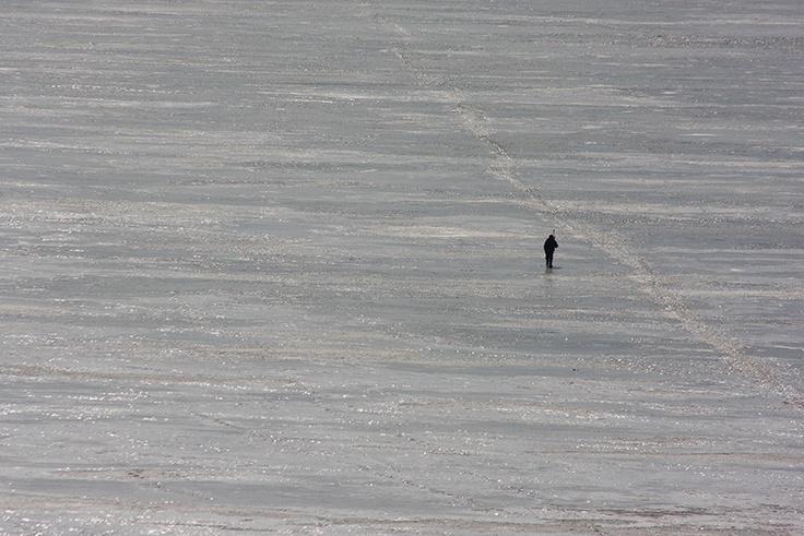 Frozen Volga Fisherman