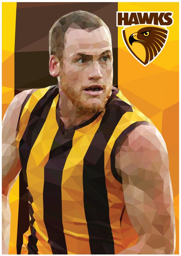 Jarryd Roughead Hawthorn Football Club AFL By Ross McRae Design