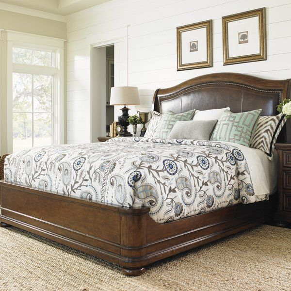 Lexington Coventry Hills Upholstered Panel Bed Perigold Sleigh Bed Master Bedroom Upholstered Panel Bed Upholstered Sleigh Bed