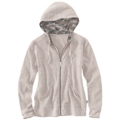 Carhartt Meadow Waffle Knit Hoodie for Ladies - Warm Oatmeal Heather - XL