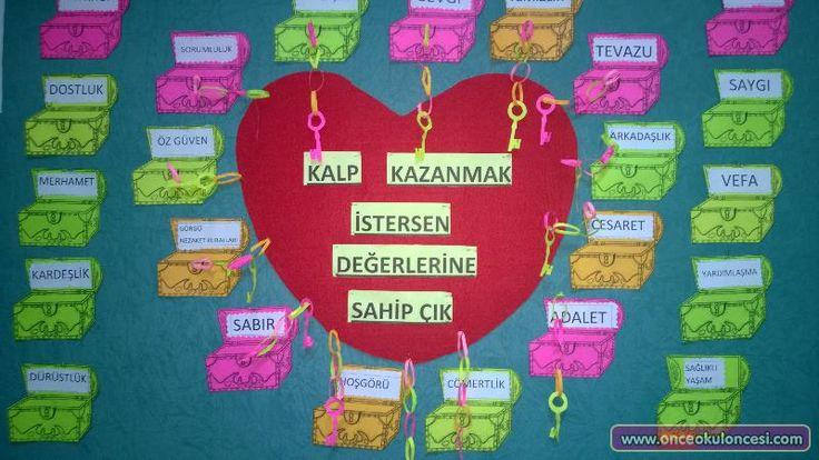Değerler Eğitimi Panosu (Kalp ve Hazine Sandıkları) - Önce Okul Öncesi Ekibi Forum Sitesi - Biz Bu İşi Biliyoruz