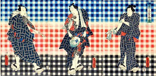御あつらへ三色弁慶(幕末の浮世絵師・歌川豊国(三代)の画)