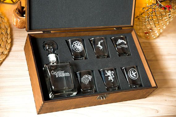 SHOP: Game of thrones whiskey set/ valentine's day gift for him/ anniversary gift/ gift for husband/ gift for boyfriend