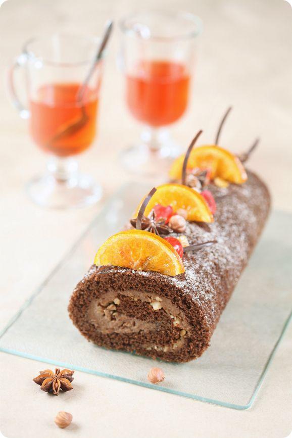 Verdade de sabor: Шоколадно-пряный рулет / Torta de cacau e especiar...