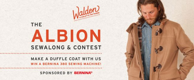 Make a duffle coat, win a sewing machine! Grand prize for the Albion sewalong and contest is a Bernina 380 sewing machine!