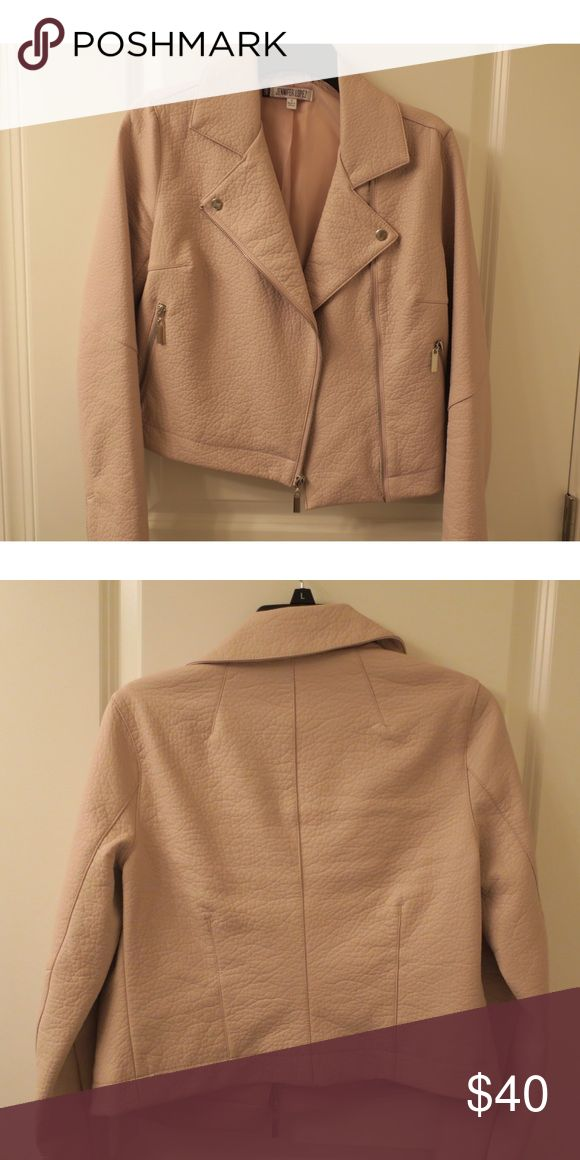 Jennifer Lopez Light Pink Jacket, faux leather Light pink, fake leather Jennifer Lopez jacket. Worn once. No rips or stains Jennifer Lopez Jackets & Coats