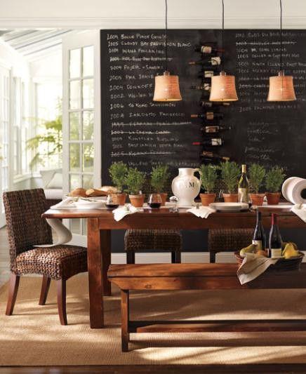 Un tableau noir pour une déco éphémère cuisine,mur, maison, diing room, salle à manger #salon www.lesbricolesdenoulou.com