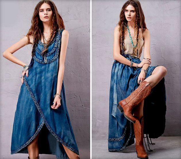 Платья и сарафаны в стиле бохо — фото