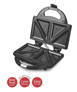 Amazon-Lifelong 116 Triangle Plate Toast Sandwich Maker worth Rs.1200 at Rs.699 only