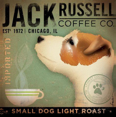 Jack Russel Coffee Co. Kunsttrykk