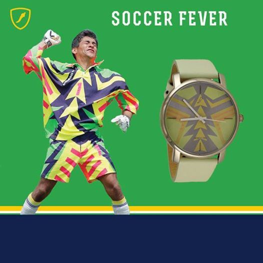 Do you have #worldcupfever ? This watch was inspired by Jorge Campos' legendary jersey.✨⚽️ #90s #soccerfever #soccer #worldcup2014 #worldcupbrasil #brazil #worldcupmexico #mexico #ChilliBeans #MadeForFun