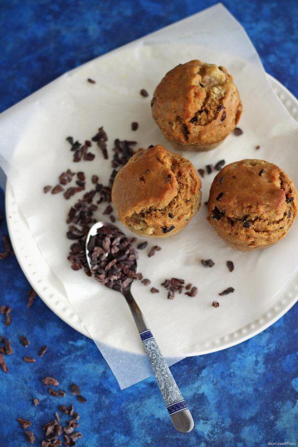 Muffin vegani alle fave di cacao | Healthy cocoa nib muffins