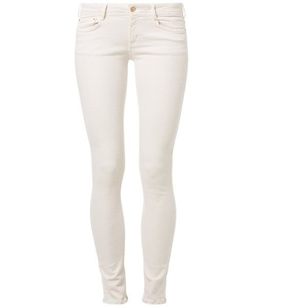 Cimarron LANA POWER Slim fit jeans nacre (335 BRL) ❤ liked on Polyvore featuring jeans, pants, bottoms, calças, jeans/pants, white, slim leg jeans, cimarron jeans, slim cut jeans and slim fit jeans