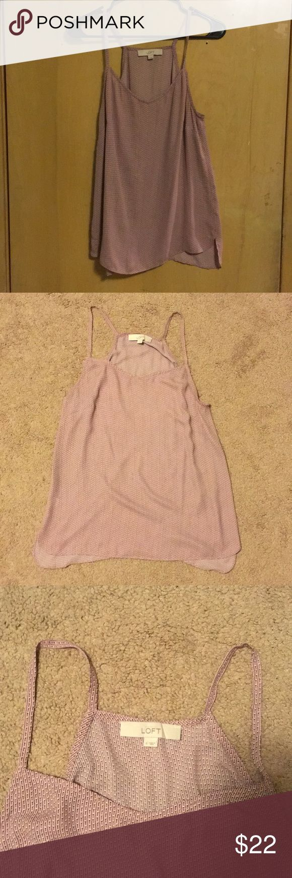Loft tank blouse This light pink patterned loft tank is great for formal and informal attire. LOFT Tops Tank Tops