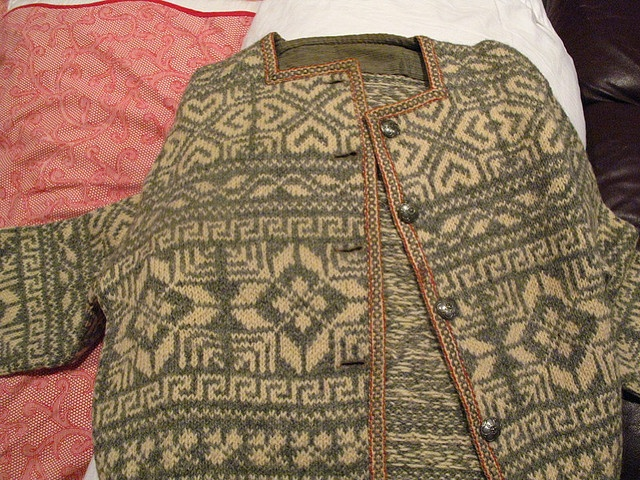 antique Norwegian sweater and a traditional but very modern looking piece this is!