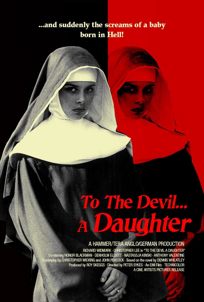To the Devil... a Daughter (1976) - a later Hammer film with Richard Widmark, Christopher Lee and a young Nastassia Kinski.