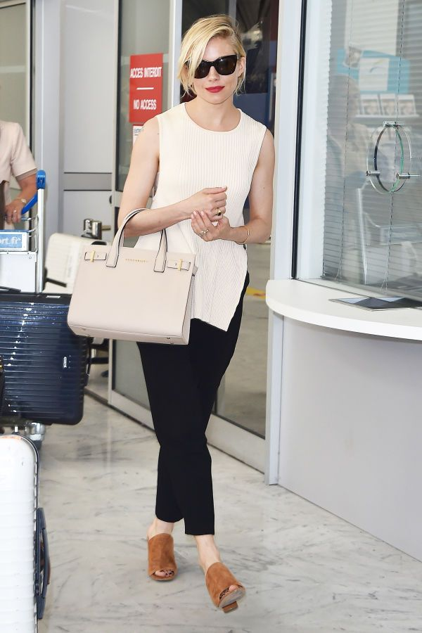 Sienna Miller has airport style nailed