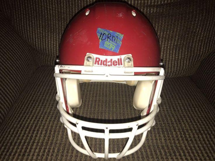 Riddell revolution medium adult football helmet red with