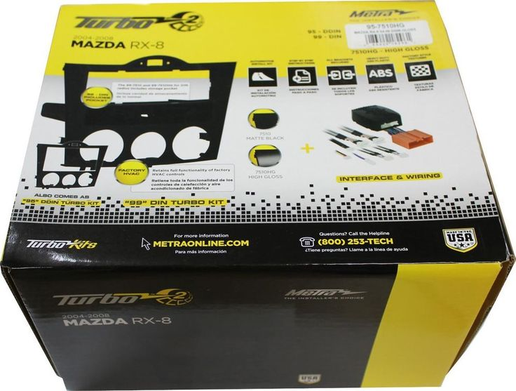 US $169.99 New in Consumer Electronics, Vehicle Electronics & GPS, Car Audio & Video Installation http://www.ebay.com/itm/METRA-95-7510HG-MAZDA-RX-8-2004-2008-DOUBLE-DIN-DASH-KIT-HIGH-GLOSS-BLACK-NEW-/181290821011?pt=US_Car_Audio_Video_Dashboard_Installation_Kits&hash=item2a35c66593