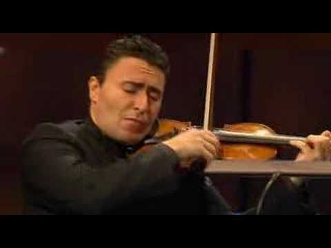 The slow movement from Mozart's Sinfonia Concertante for violin, viola and orchestra.  Fell in love with this piece when a dear violinist friend, Susie and I played it a few years back with our orchestra at the time, the Cambridge Graduate Orchestra.  It was bitter sweet as it was Susie's last concert before moving to Australia. Vengerov and Power play it like I felt it!