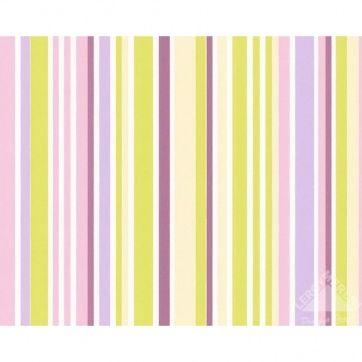 Обои виниловые, цветные полосы AS1722-28, 0,53х10 м