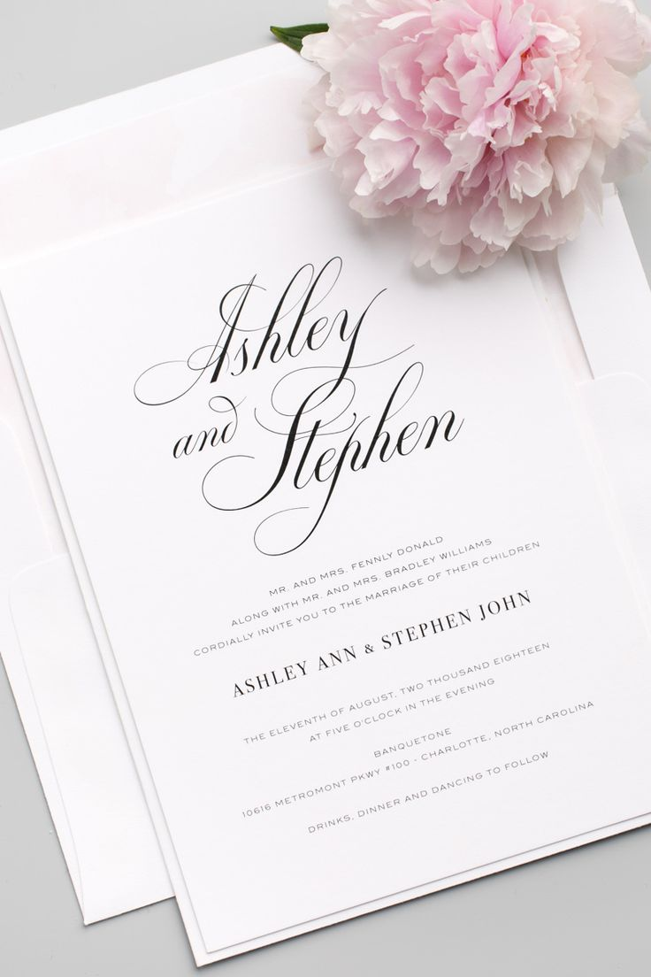 100 best wedding announcements invites images on pinterest timeless calligraphy wedding invitations stopboris Images
