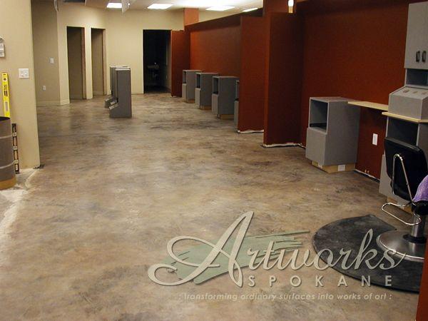 Skimstone Slate On Hair Salon Floor Painted Floors