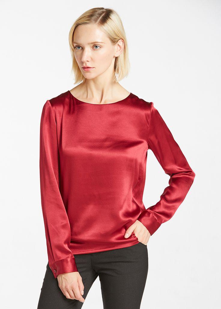 22MM Basic Round Neck Silk Blouse Hot Sale on Lilysilk