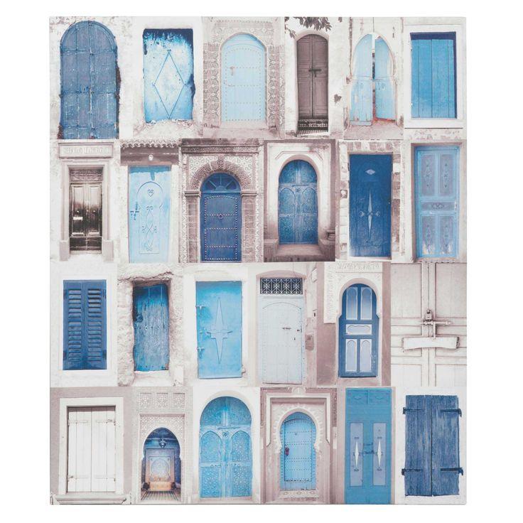 Tela patchwork con stampe blu 60x70 cm BLUE VILLAGE