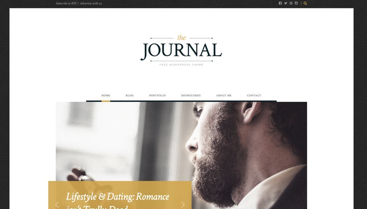 The Journal free WordPress blogging theme. More info: http://curatable.net/20-free-wordpress-themes-i-would-actually-use-to-start-a-new-blog-in-2016/