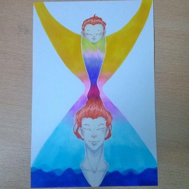 #artnestoltes dia 4: tiempo #time #men #baby #redhead #sea #copicmarkers #illustration #color #life #instagood #followme