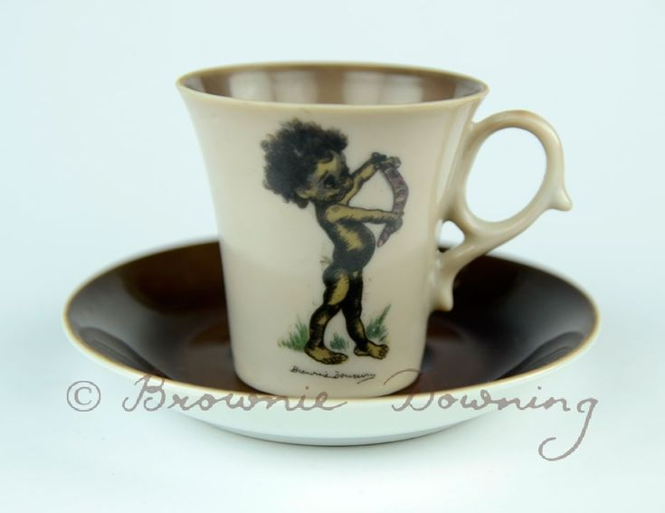 Cup and saucer - indigenous Australian boy - Brownie Downing | Artist & Illustrator | Official Site