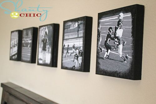 Would love to do this with Matthew's football pictures........