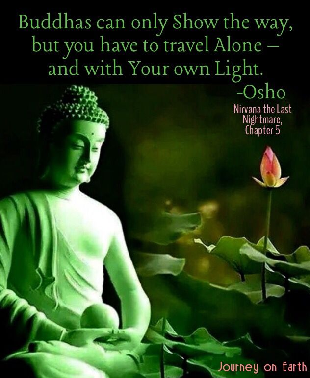 Buddhas Can Only Show The Way But You Have To Travel Alone And With Your Own Light Osho Nirvana The Last Nightmare Chapter 5 Osho Travel Alone Nirvana
