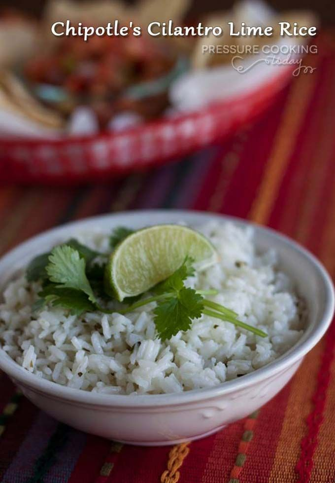 A copycat version of Chipolte's Cilantro Lime rice made faster and easier in the pressure cooker.