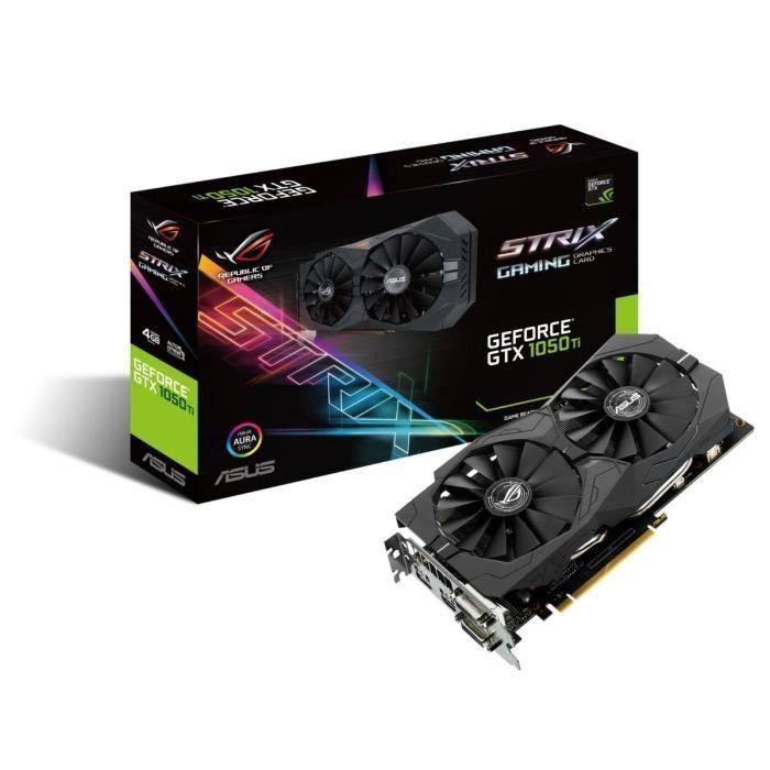Asus Carte Graphique Geforce Strix Gtx 1050 Ti 4g Gaming Graphic