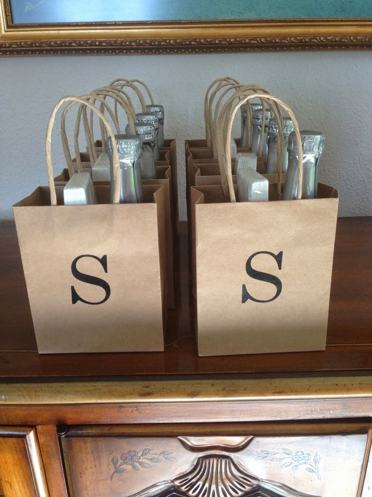Adorable Monograms and Mimosas Shower Favors.