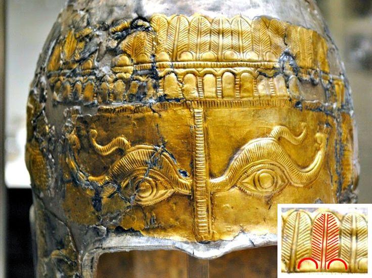 Pomul vieţii, reprezentat sub forma unui brad, este multiplicat pe coiful din argint placat cu aur, descoperit la Agighiol.